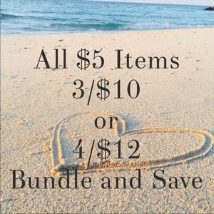 $5 items Bundle and save